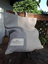 Ľanová nákupná taška Shabby Romantic