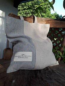 Nákupné tašky - Ľanová nákupná taška Shabby Romantic - 10993696_