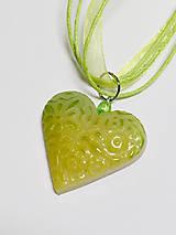 Náhrdelníky - Náhrdelník srdce - 10996782_