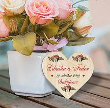 Darčeky pre svadobčanov - Svadobná magnetka - 10996569_