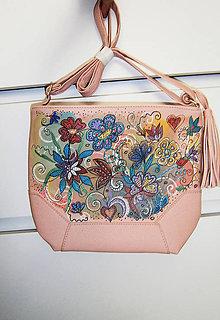 Kabelky - lelka kabelka folková-kvetinová - 10995285_