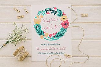 Papiernictvo - Svadobné oznámenie vlčí mak - 10996497_