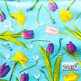 Papier - S1433 - Servítky - tulipán, snežienka, narcis - 10995771_
