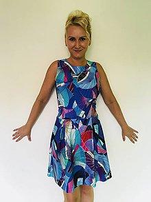 Šaty - Fialovo modré abstraktné - 10995513_
