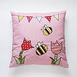 Textil - Detský bavlnený vankúšik - Rozprávková lúka - 10997096_