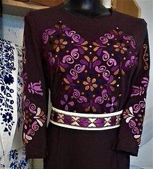 Šaty - Slovenská ornamentika - vyšívané šaty s opaskom - 10995526_