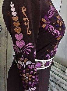"""Šaty - Slovenská ornamentika - vyšívané šaty  """" Popol z ruže """" - 10995527_"""