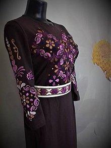 """Šaty - Slovenská ornamentika - vyšívané šaty  """" Popol z ruže """" - 10995530_"""