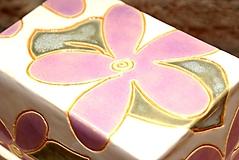 """Nádoby - Maselnička """"flowers"""" - 10997616_"""