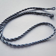 Galantéria - Šnúrka 0,3x48cm-1ks (striebornošedá) - 10997021_