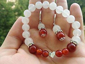 Sady šperkov - Set Jadeit a Karneol - 10996779_