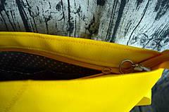 Kabelky - žltá koženková crossbody - 10996689_