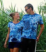 Topy, tričká, tielka - Dámske a pánske tričká, párové, batikované, maľované OČAKÁVANIE - 10996807_