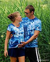Topy, tričká, tielka - Dámske a pánske tričká, párové, batikované, maľované OČAKÁVANIE - 10996819_