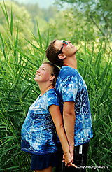 Topy, tričká, tielka - Dámske a pánske tričká, párové, batikované, maľované OČAKÁVANIE - 10996824_