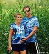 Topy, tričká, tielka - Dámske a pánske tričká, párové, batikované, maľované OČAKÁVANIE - 10996839_