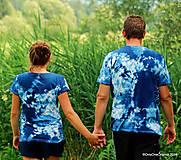 Topy, tričká, tielka - Dámske a pánske tričká, párové, batikované, maľované OČAKÁVANIE - 10996848_