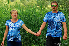 Topy, tričká, tielka - Dámske a pánske tričká, párové, batikované, maľované OČAKÁVANIE - 10996875_