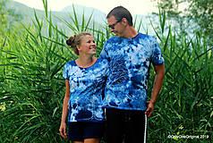 Topy, tričká, tielka - Dámske a pánske tričká, párové, batikované, maľované OČAKÁVANIE - 10996876_