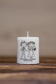 Darčeky pre svadobčanov - Menovka alebo darček pre svadobčanov - Sviečka - Vzor č.10 (A) - 10995060_