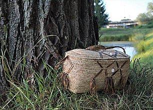 Iné tašky - Egyptský piknikový kôš / taška - 10997795_