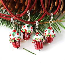 Náhrdelníky - Vianočný muffin prívesok /l-108 - 10996451_