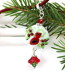 Náhrdelníky - Vianočný vtačik prívesok /l-109 - 10996504_