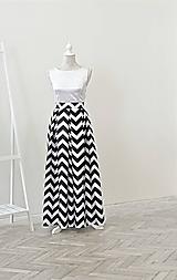 Vzorovaná maxi sukňa s vreckami