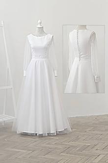 Šaty - Svadobné šaty s tylovou sukňou - 10996291_