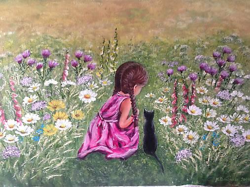 Dievčatko s mačičkou