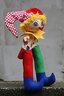 Hračky - Maňuška. Veselý farebný Gašparko veľký - 10995636_