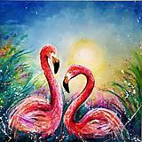 Obrazy - Flamingos - 10997829_