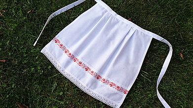Iné oblečenie - Svadobná zásterka pre nevestu - 10995246_