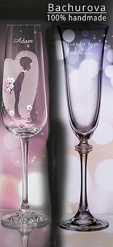 Nádoby - Svadobný pohár na zakázku pre_ajinkaknm - 10995053_