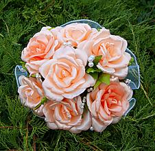 Kytice pre nevestu - svadobná kytica oranžová - 10997729_