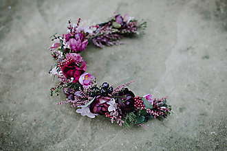 Ozdoby do vlasov - Polveniec Wild violet - 10995367_