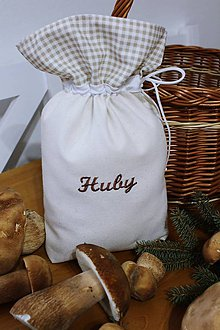 Úžitkový textil - Vrecko na huby - 10996363_