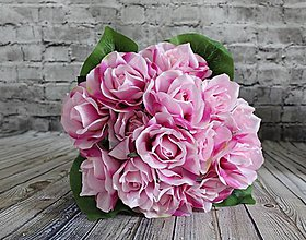 Iný materiál - Maxi kytica ruží fialová - 10997951_