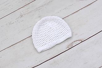 Detské čiapky - Biela letná čiapka BIO/ORGANIC - 10995989_