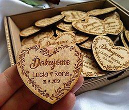 Darčeky pre svadobčanov - Svadobné magnetky . lúčne kvety - 10997766_
