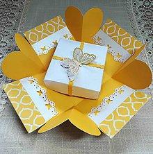 Papiernictvo - Krabička na peniaza žltá - 10996905_