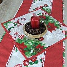 Úžitkový textil - HILDA - Zmes vianočných vzorov  - štvorec 40x40 - 10997393_