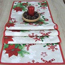 Úžitkový textil - HILDA - Zmes vianočných vzorov(2) - stredový obrus 150x40 - 10997433_