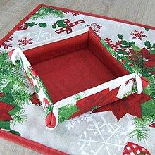 Úžitkový textil - HILDA - Zmes vianočných vzorov  - textilný košíček - 10997465_