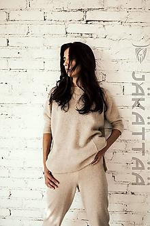 Svetre/Pulóvre - Béžový sveter mäkký - 100% kašmír - 10996655_