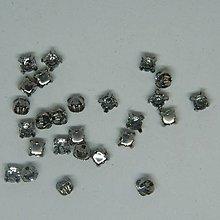 Iný materiál - štrasové kamienky kruhové 4 mm sklenené (svetlomodrá) - 10996991_