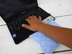 Úžitkový textil - Modrá špaldovo-pohánková podložka k počítaču - 10996844_