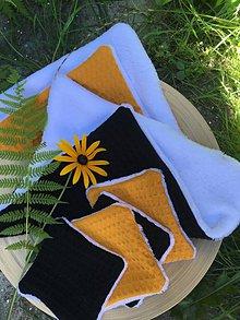 Úžitkový textil - Odličovacie vankúšiky - pampúšiky farba HORČICA - 10996909_