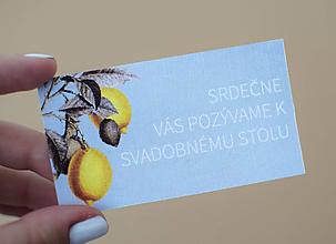 Papiernictvo - Pozvánka k svadobnému stolu - EVELIA - 10997833_