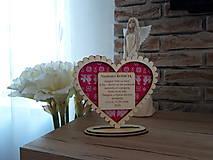 Darčeky pre svadobčanov - Podakovanie pre rodicov Cicmany I (drevo+textil) - 10997105_